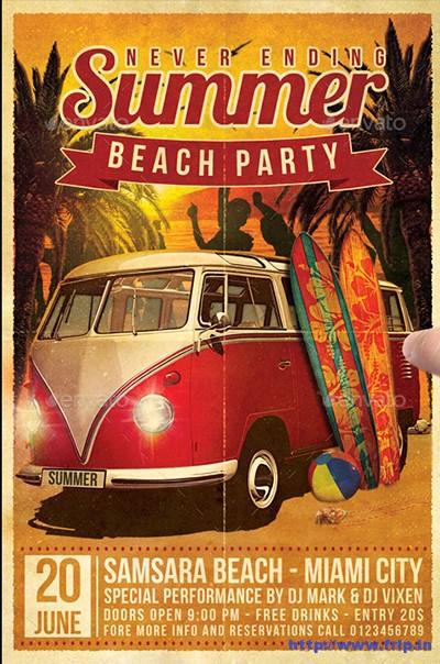 Summer-Beach-Party-Flyerss
