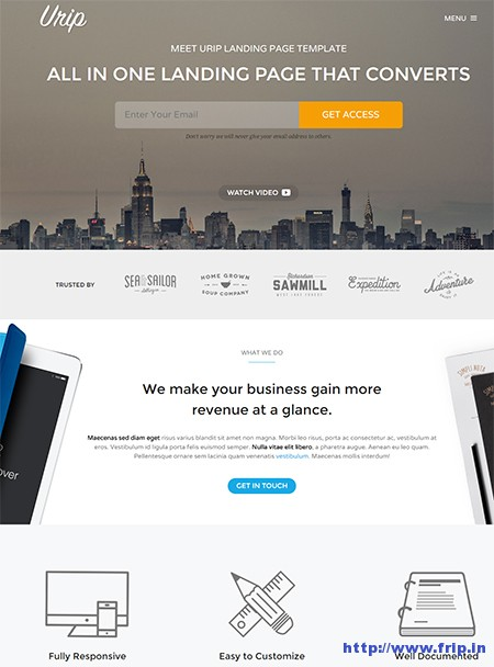 Urip-WordPress-Landing-Page