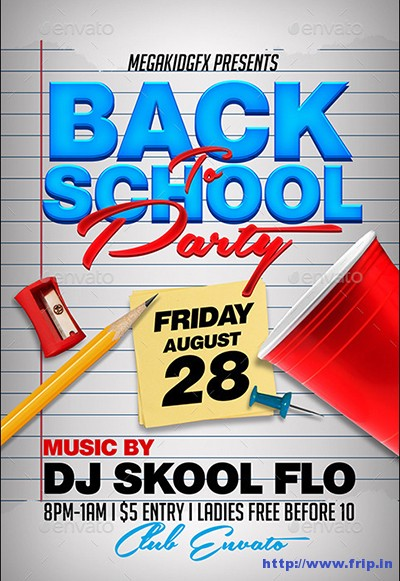 Back-To-School-Party-Flyer-Template