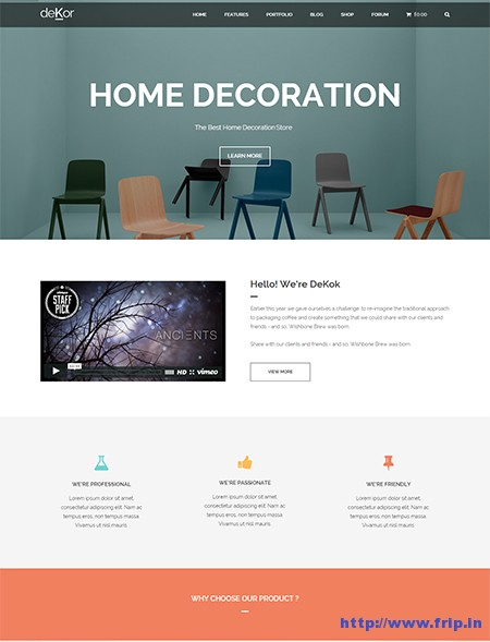 deKor-Interior-WordPress-Theme
