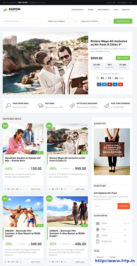 kupon-daily-deal-marketplace-theme