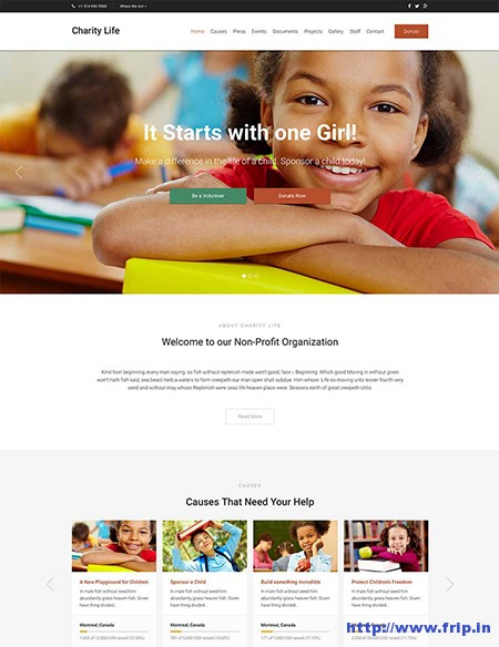 Charity-Life-WordPress-Theme