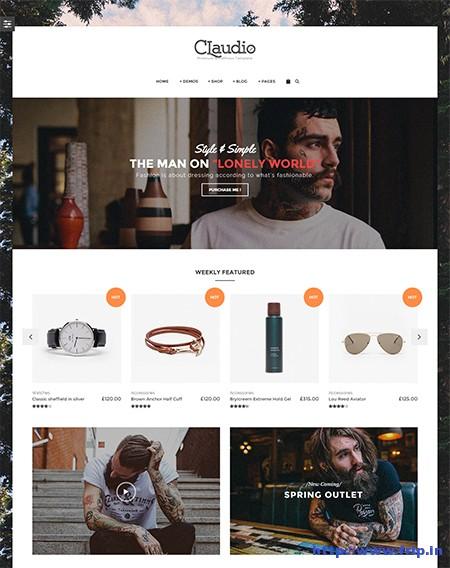 Claudio-eCommerce-WordPress-Theme