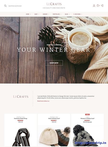 LeCrafts-WooCommerce-Marketplace-Theme