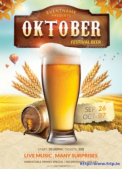 Oktoberfest-Flyer-Templatess