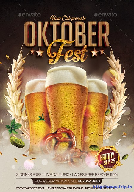 Oktoberfest-Party-Flyer-Templates