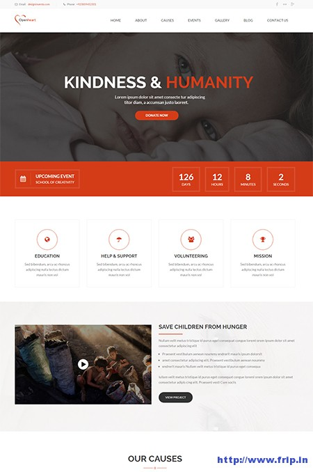 Open-Heart-Non-Profit-WordPress-Theme