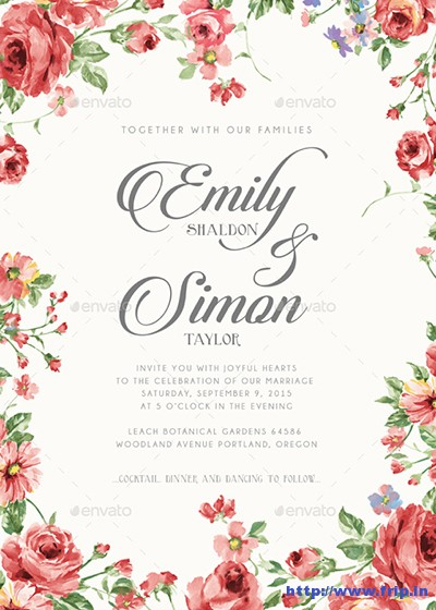 100 Best Wedding Invitation Card Print Templates 2015 ...