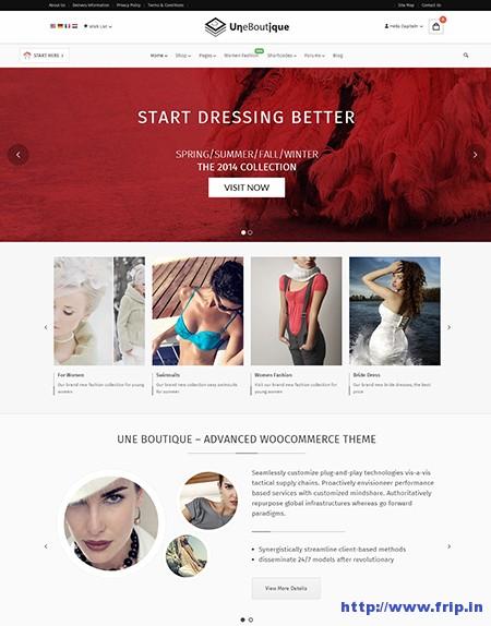 Une-Boutique-eCommerce-WordPress-Theme