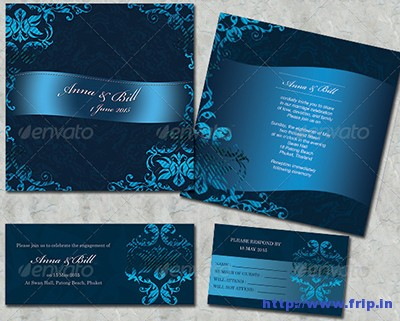 4-Items-Wedding-Card