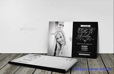 Black-&-White-Elegant-Wedding-Invitation