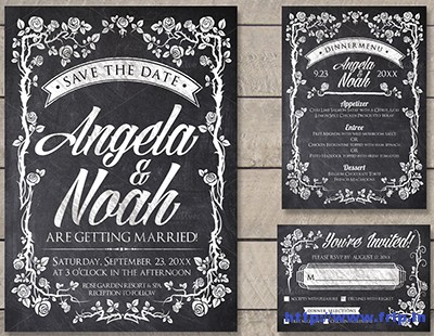 Chalk-Wedding-Invite