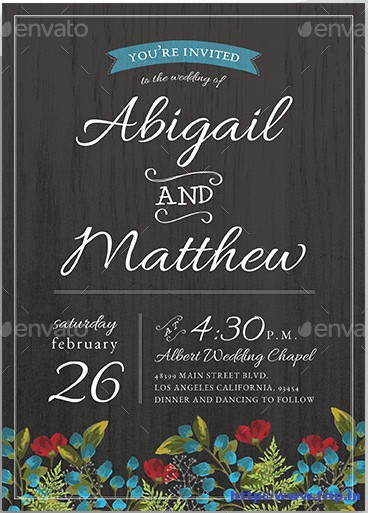Floral-Rustic-Wedding-Invitation-Set