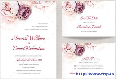 Floral-Wedding-Invitation-Set