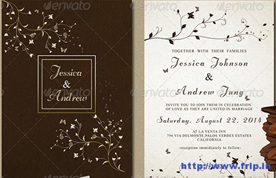 Flowery-Wedding-Invitation