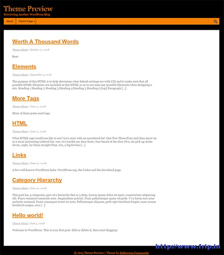 Halloween-WordPress-Theme