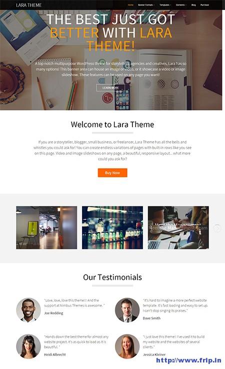 Lara-One-Page-Style-WordPress-Theme