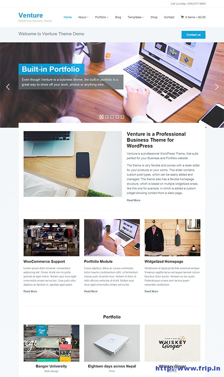 Venture-2 wordpress theme