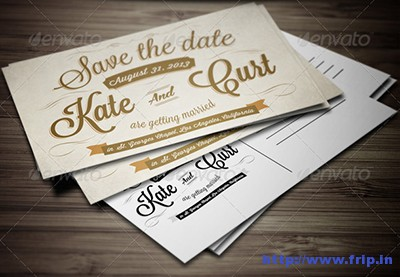 Vintage-Wedding-Invitation-Postcard-Template