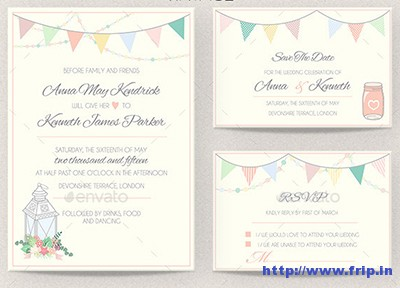 Vintage-Wedding-Invitation-Set