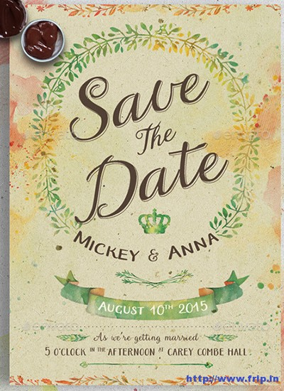 Watercolor-Wedding-Invitation-Set