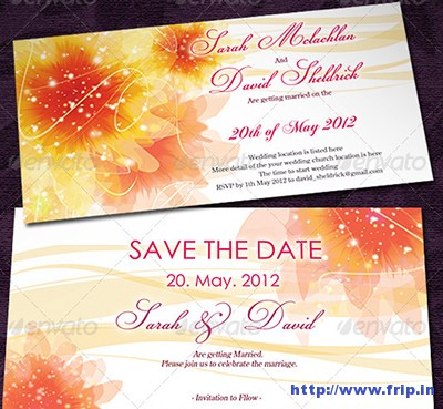 Wedding-Invitation-Cards-With-Flowers