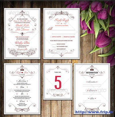 Wedding-Invitation-Package-–-Flowery-Love