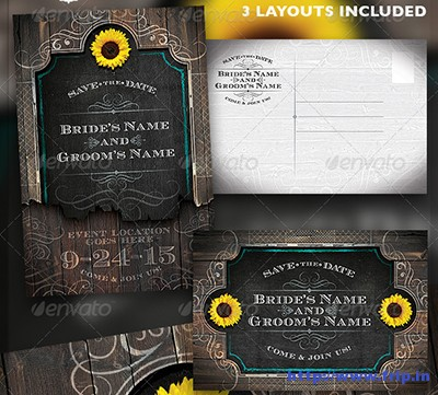 Western-Save-The-Date-Wedding-Flyer-Template