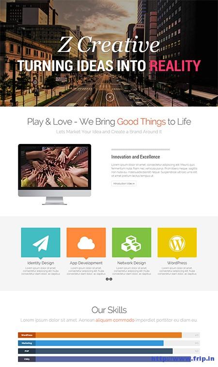 Z-One-Pager-WordPress-Theme