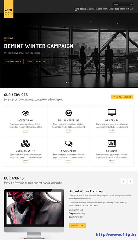 Agen-One-Page-WordPress-Theme
