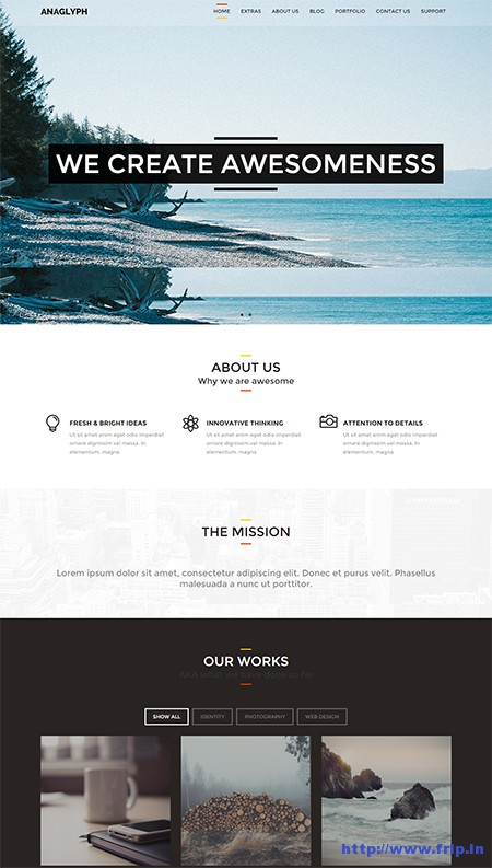 Anaglyph-One-Page-WordPress-Theme