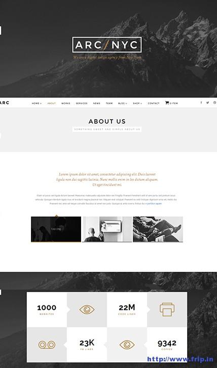 Arc-Elegant-One-Page-WordPress-Theme