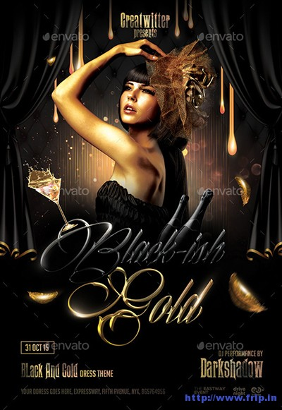 Black-&-Gold-Party-Flyer