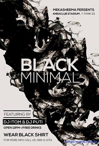 Black-Minimal-Flyer