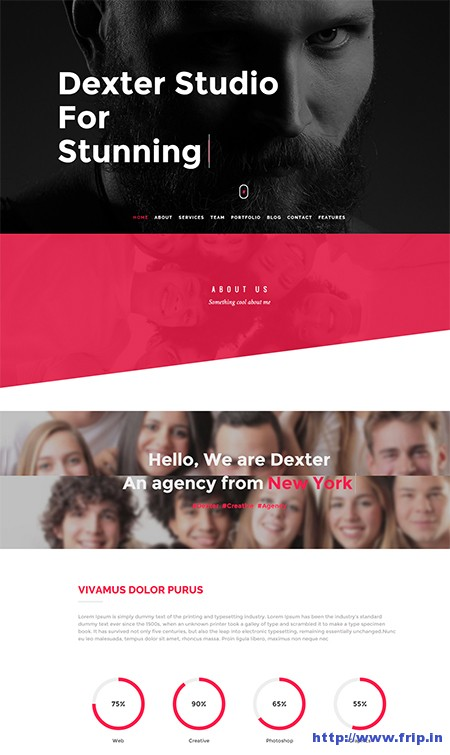 Dexter-One-Page-WordPress-Theme