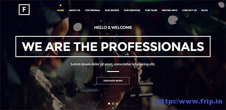Flip-One-Page-WordPress-Theme