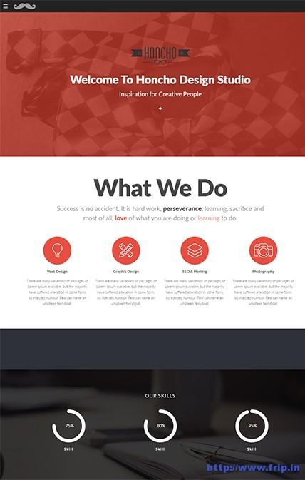 Honcho-One-Page-WordPress-Theme