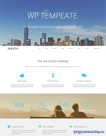 Inesta-One-Page-WordPress-Theme