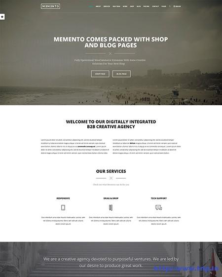 Memento-One-Page-WordPress-Theme