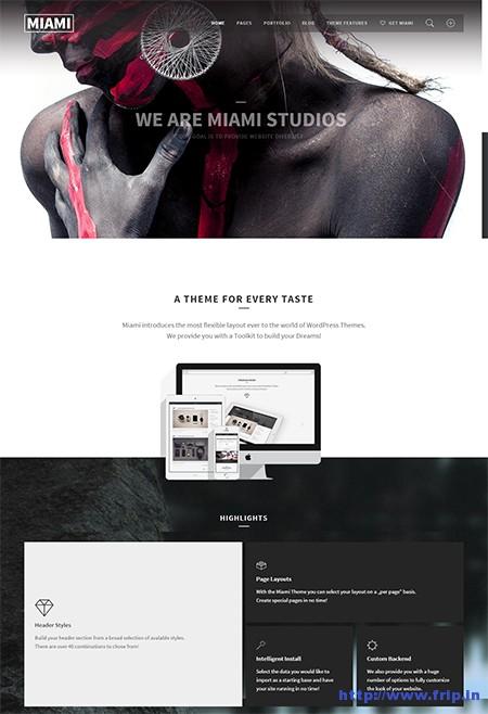 Miami-Multi-One-Page-WordPress-Theme