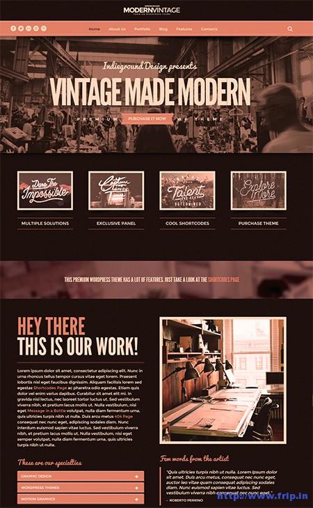 Modern-Vintage-One-Page-WordPress-Theme