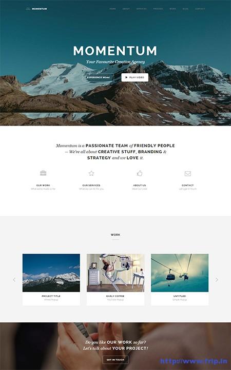 Momentum-One-Page-WordPress-Theme