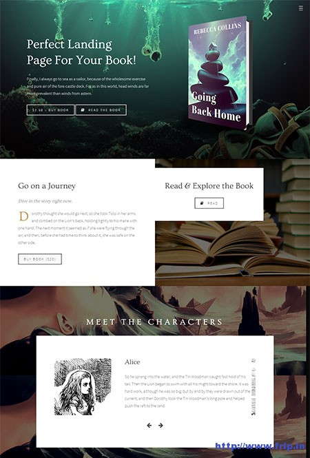 Novela-Book-Landing-WordPress-Theme