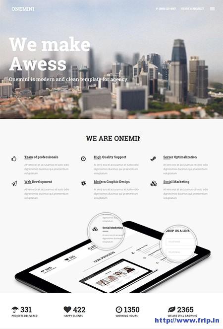 Onemini-One-Page-WordPress-Theme