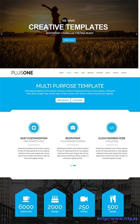 Plus-One-Page-WordPress-Theme
