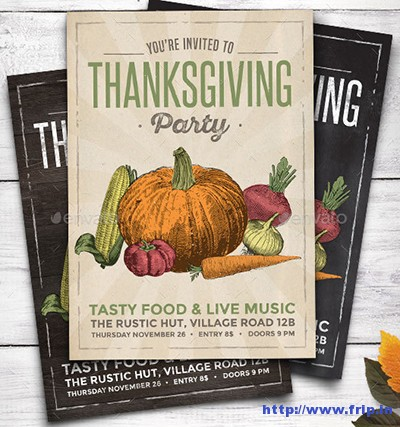 Rustic-Thanksgiving-Party-Flyer