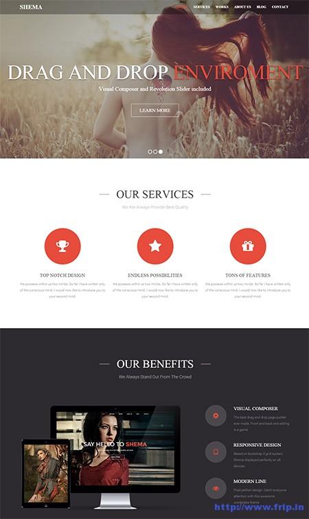 Shema-One-Page-WordPress-Theme
