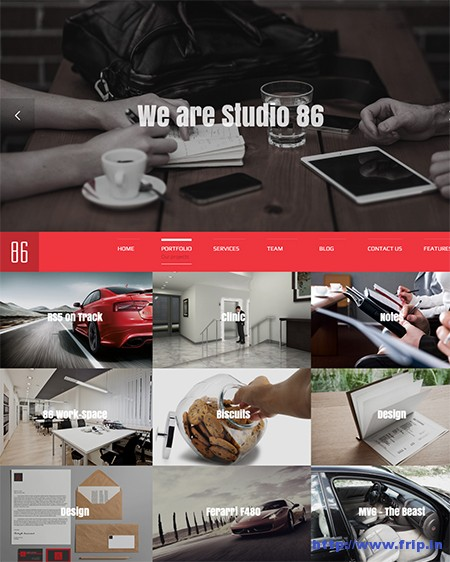 Studio-86-Single-Page-WordPress-Theme