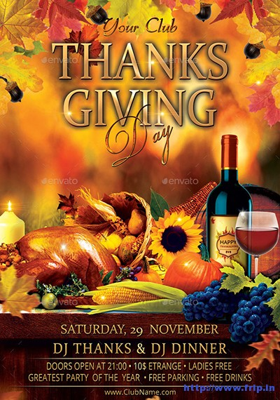 Thanksgiving-Day-Party-Flyer