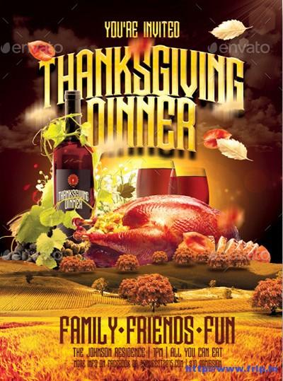 Thanksgiving-Dinner-Invite-Flyer-Template-Vol